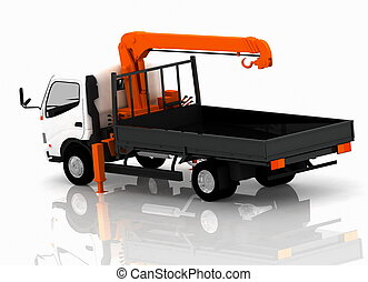 Tow truck of cars