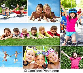 Happy children - Photo of happy kids spending summer in...