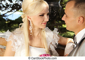 Bride and groom, portrait - Beautiful bride and groom...