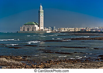 rei, Hassan, II, mesquita, Casablanca, Marrocos