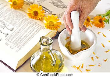 preparing of calendula oil