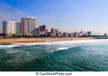 Durban Beach Front - Durban beach front featuring the golden...