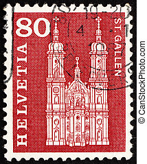 SWITZERLAND - CIRCA 1960: a stamp printed in the Switzerland...