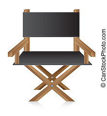director chair over white background, movie. vector