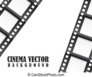 film movie over white background vector illustration