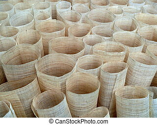 cloth tube backgrouns - cloth fabric rolled in tubes as a...