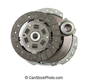 engine clutch. Isolated on white with clipping path