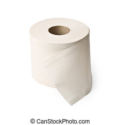 toilet paper - single roll of white rolled toilet paper