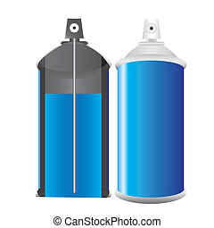 Spray bottle blue