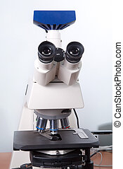 microscope - optic microscope in the reseach laboratory
