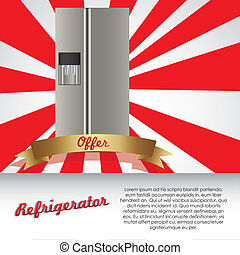 Illustration of a refrigerator