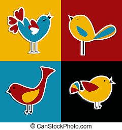 Social media birds set