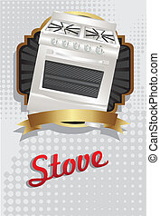 Illustration of a stove
