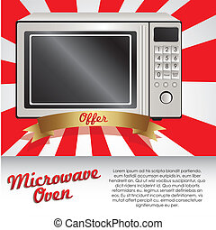Illustration of a microwave
