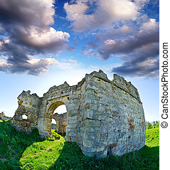 The ruins of an abandoned Pnivsky castle in Ukraine - At the...