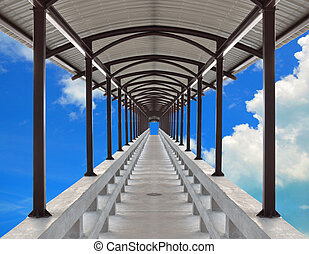 tunnel path - Abstract illustration of perspective pathway...