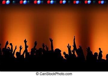 Rock Concert Fans