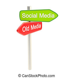 Social media versus old media metaphore