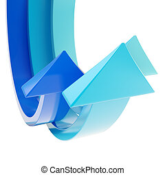 Abstract bend arrow copyspace background - Glossy bend arrow...