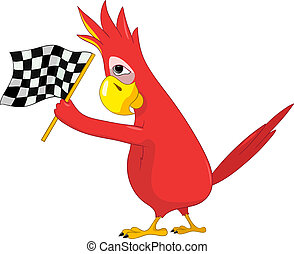 Funny Parrot. Racing.