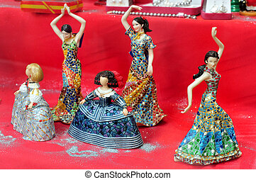 Travel Photos of Spain - Madrid Cityscape - Flamenco dancers...