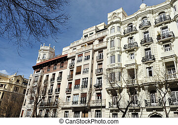 Travel Photos of Spain - Madrid Cityscape - Rafael...