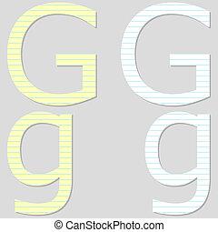 Paper Font Set Letter G