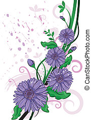 Gerbera - Illustration Featuring a Purple Gerbera