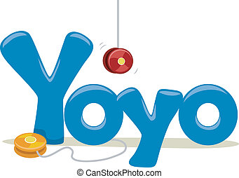 Yoyo - Text Illustration Featuring the Word Yoyo