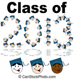 Class of 2013 Faces - An image of a class of 2013 graduate...