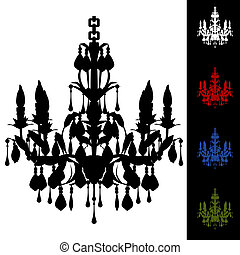 Elegant Chandelier - An image of a elegant chandelier