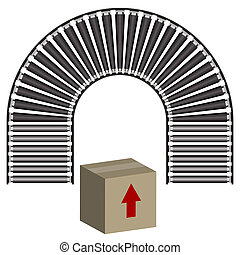 Conveyor Belt Icon Box - An image of a arc conveyor belt...