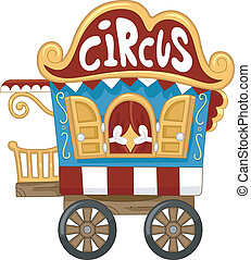 Circus Caravan - Illustration of a Circus Caravan