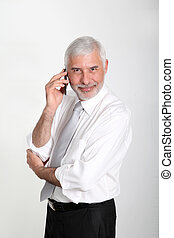 Sales manager talking on mobile phone