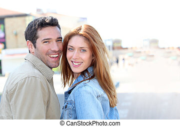 Portrait of happy smiling couple