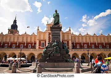 Monument To Adam Mickiewicz in Krakow - Adam Mickiewicz...