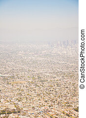 Los Angeles downtown, birds eye view at sunny day - Los...