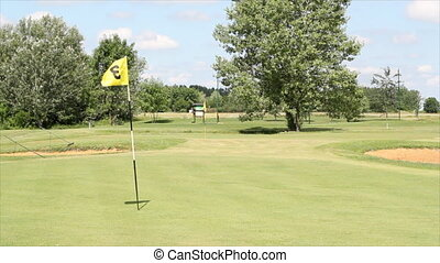 course with yellow flag