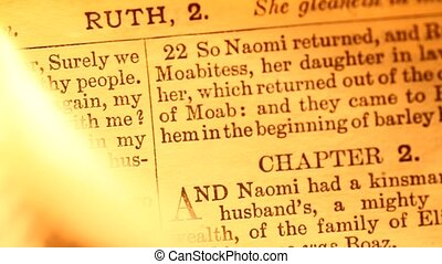 Bible - Close up of Bible