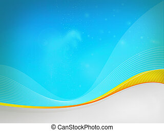 Blue background Dizzy,yellow waves - Abstract background for...