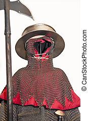 Medieval knight. - Isolated medieval armor.