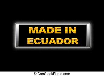 Made in Ecuador.