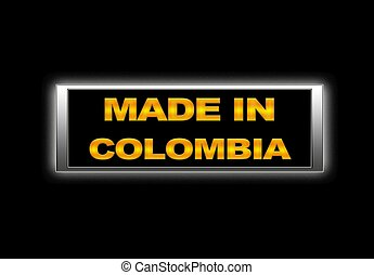 Made in Colombia.