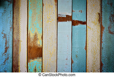 The old painted wooden wall with variety color