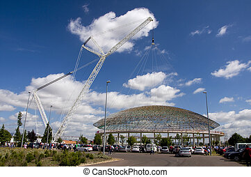 Replacing of the dome F Buesa Arena - Fernando Buesa Arena...
