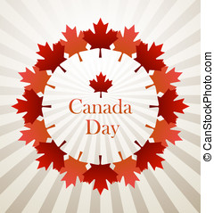 Canada Day vector background