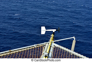 The wind velocity and direction indicator - The wind...