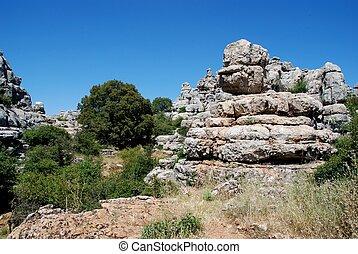 El Torcal National Park, Spain - Karst landscape, El Torcal...
