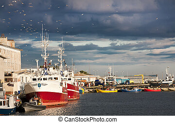 Fishing cutters in Europe - Fishing harbor in Poland