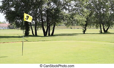 golf yellow flag